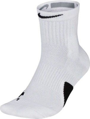 Nike Midcalf White Basketball Socks