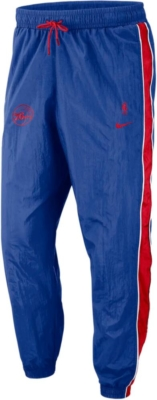 Nike Nba Throwback Sixers Blue And Red Stripe Trackpants