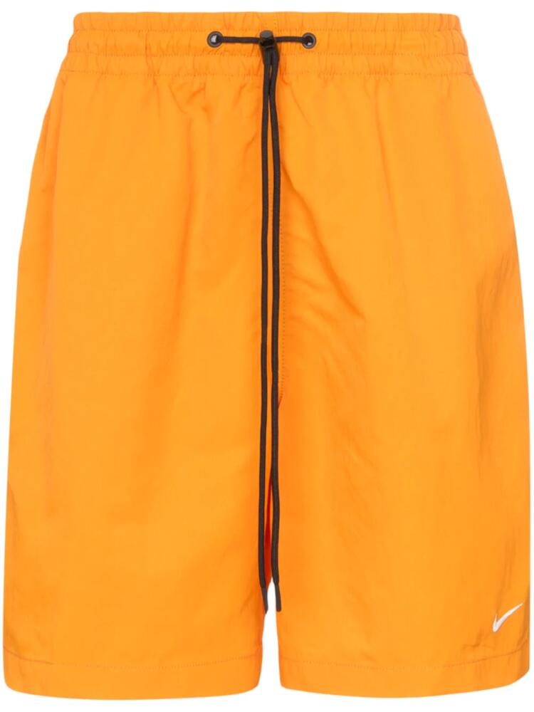 Nike Nrg Orange Track Short With Black Drawstrings