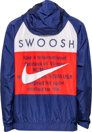 Nike Red And Blue Double Swoosh Jacket