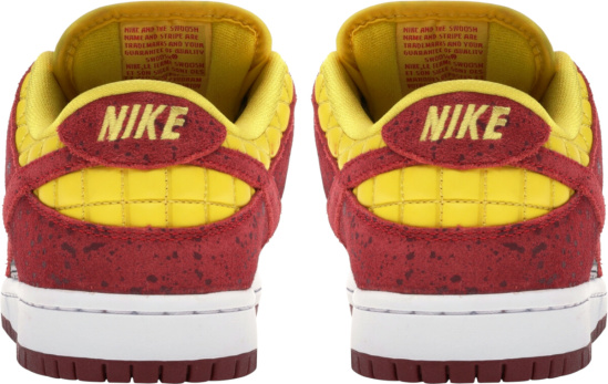 Nike Red Yellow Silver Dunks