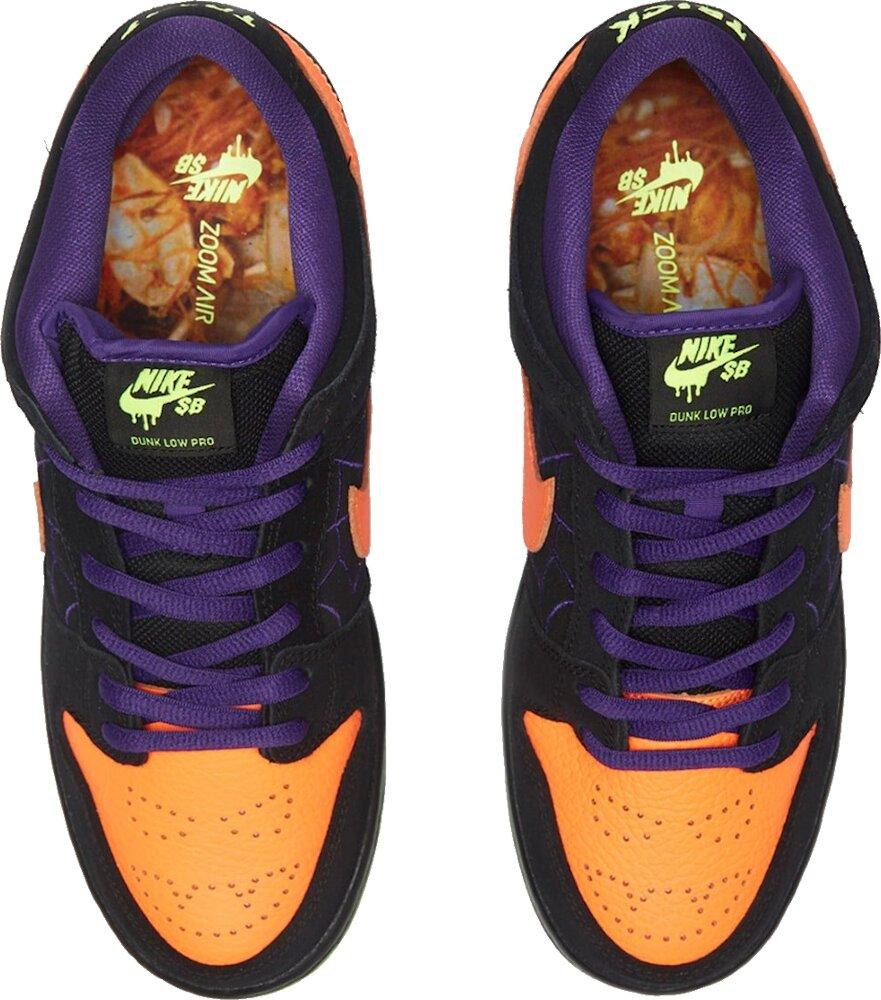 Nike Sb Dunk Black Purple Orange And Neon Green Sneakers