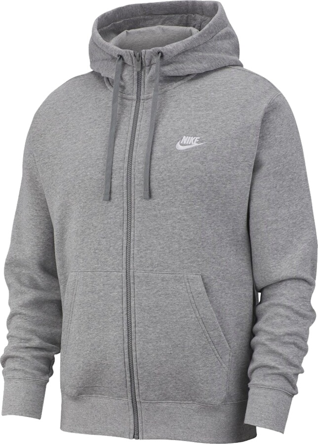 Nike Sports Wear Grey Zip Hoodie
