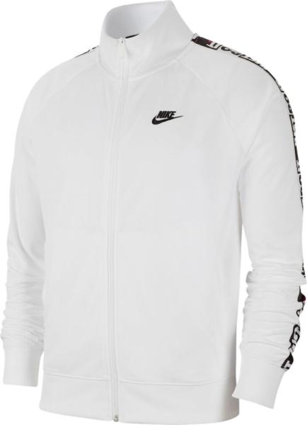 Nike Sportswear Just Do It Stripe White Track Jacket