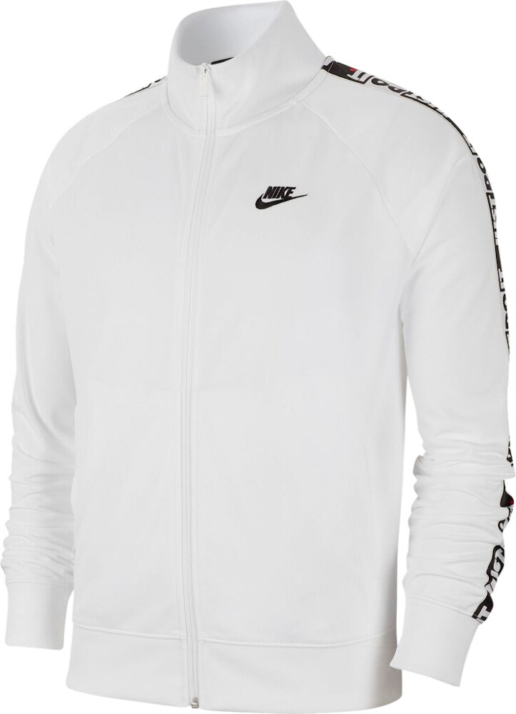 Nike Sportswear Just Do It Stripe White Track Jacket