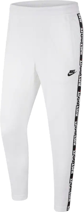 Nike Sportswear Just Do It Stripe White Track Pants