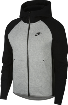 Nike Sportswear Tech Black And Grey Hoodie