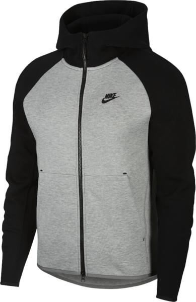 Nike Sportswear Tech Black And Grey Hoodie