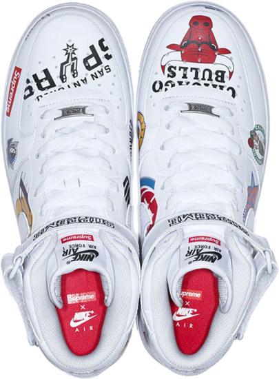 Nike Supreme Mid Nba Print Sneakers
