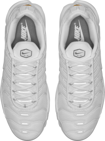 Nike White And Cool Grey Air Max Plus Sneakers
