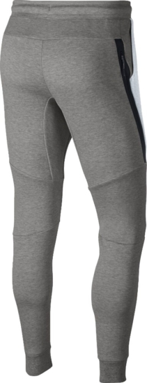 Nike White And Grey Tech Joggers