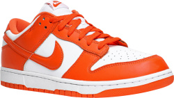 Nike White And Orange Dunk Low Syracuse