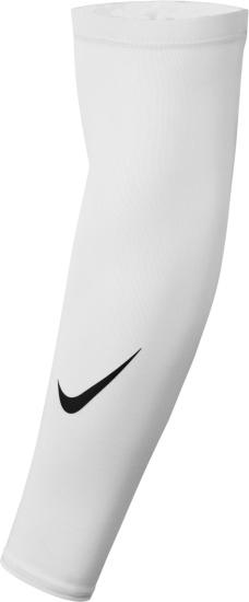 Nike White Dri Fit 4 Arm Sleeves
