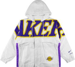 Nike White Lakers Puffer Jacket