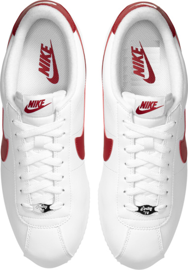 Nike White Red Cortez Sneakers