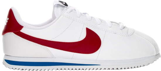 Nike White Red Leather Cortez Sneakers