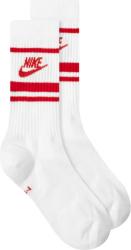 Nike White Red Striped Socks