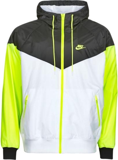 Nike Windrunner Black White Yellow