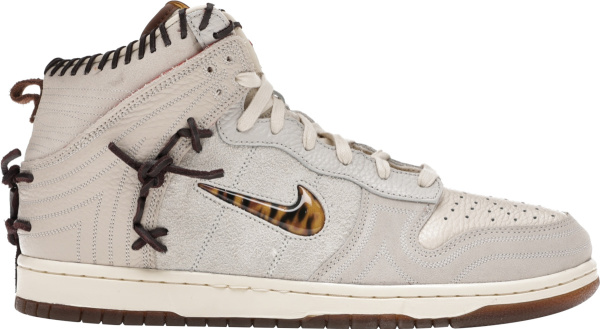 Nike X Bodega White High Top Dunk Sneakers Ivory Friends And Family