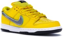 Nike X Diamond Supply Sb Low Dunk Yellow Canary Sneakers