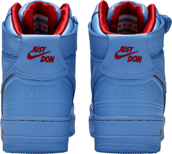 Nike X Just Don Light Blue High Top Air Force 1s