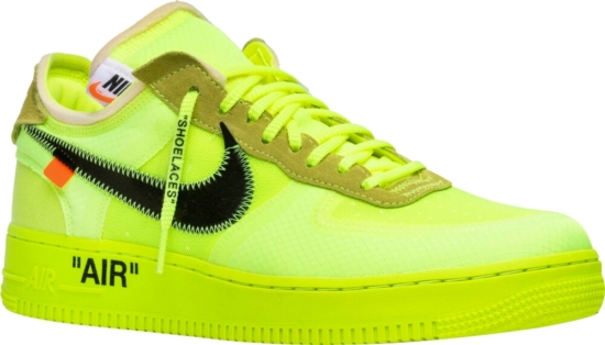 Nike Air Force 1 Low X Off White Volt Incorporated Style