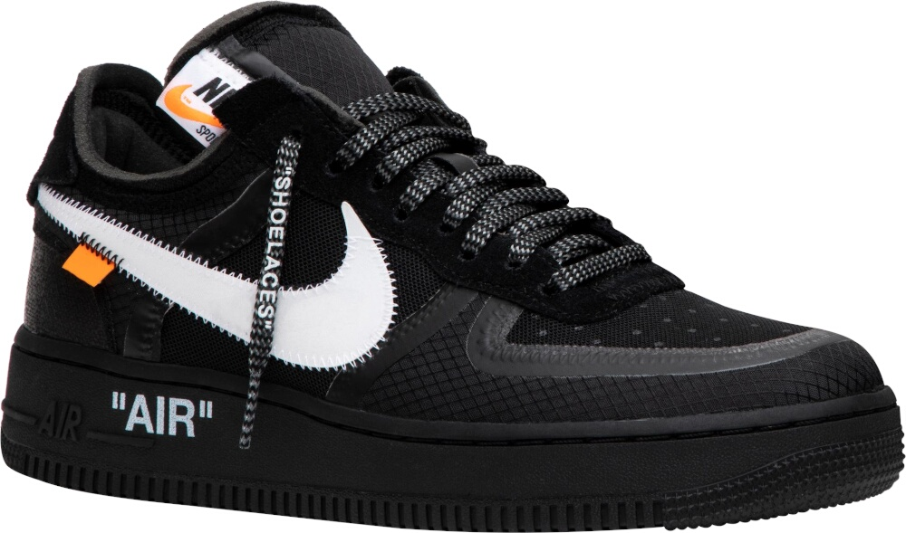 Nike X Off White Black Air Force 1 Low Sneakers