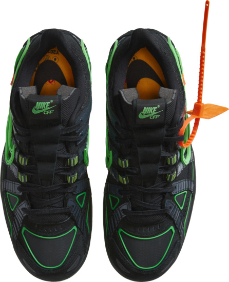 Nike X Off White Black And Green Rubber Dunk Sneakers