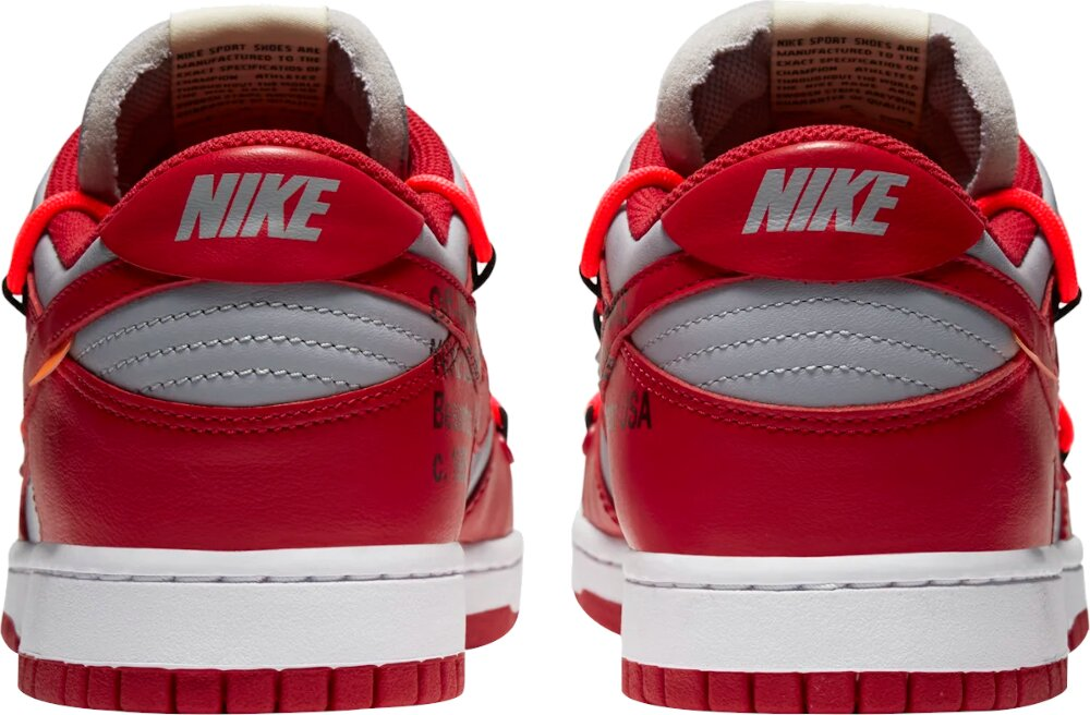 Nike Dunk Low x Off-White 'University Red'