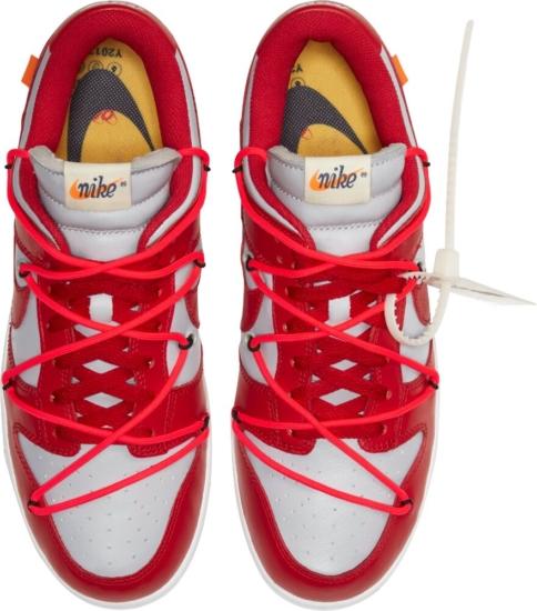 Nike X Off White University Red Dunks