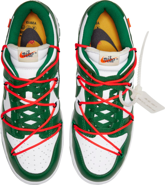 Nike X Off White White Green Low Sneakers