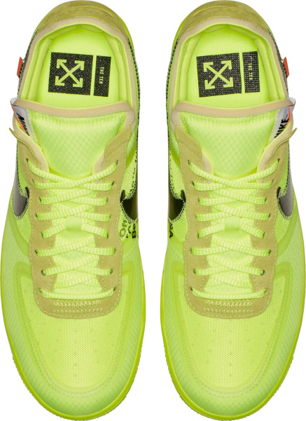 Nike X Off White Yellow Sneakers