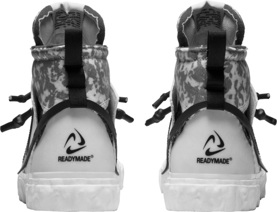 Nike X Readymade White Grey Camo Blazer Mid Sneakers