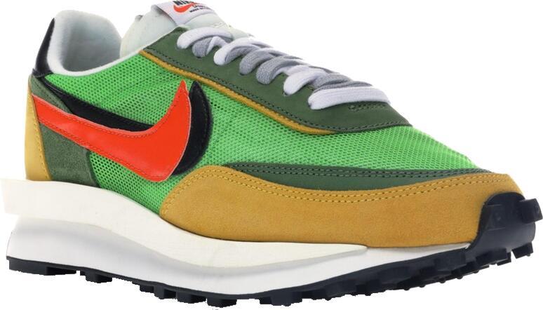 Nike X Sacai Ld Waffle Green Sneakers