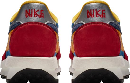 Nike X Sacai Waffle Racer Blue Red Sol