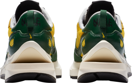 Nike X Sacai Yellow And Green Sneakers