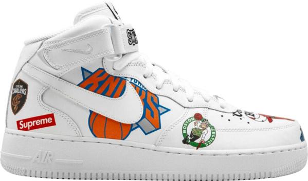 Nike X Supreme Af1 Mid White Nba