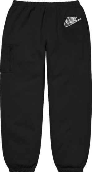 Nike X Supreme Black Cargo Sweatpants