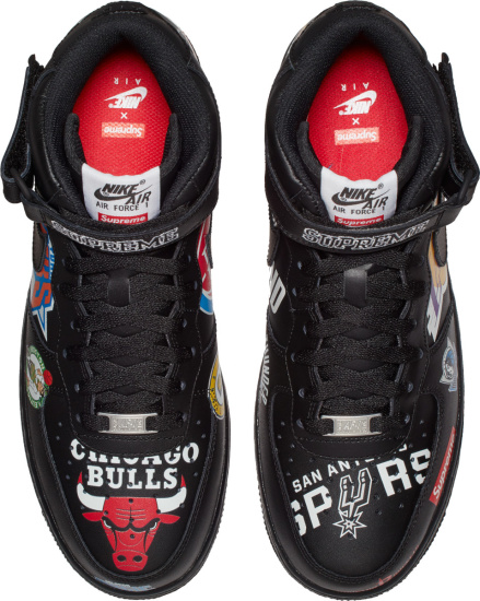 Nike X Supreme Black High Top Nba Logo Sneakers