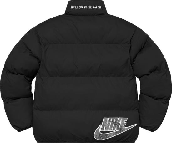 Nike X Supreme Black Puffer Jacket