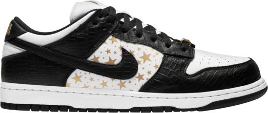 Nike X Supreme Black White Gold Stars Dh3228 102