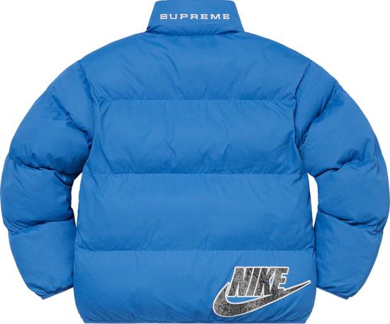 Nike X Supreme Light Blue Puffer Jacket