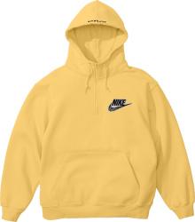 Nike X Supreme Pale Yellow Half Zip Hoodie