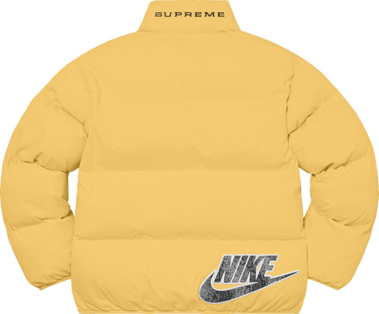 Nike X Supreme Pale Yellow Puffer Jacket