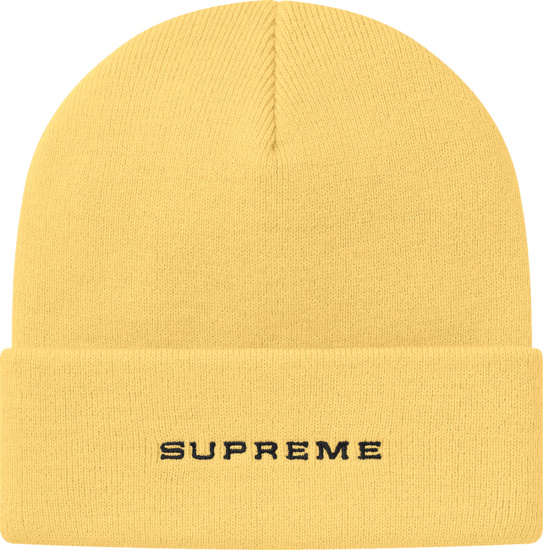 Nike X Supreme Pale Yellow Snakeskin Beanie