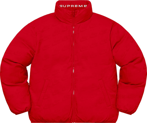 Nike X Supreme Red Allover Down Jacket