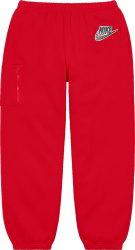 Nike X Supreme Red Cargo Sweatpants