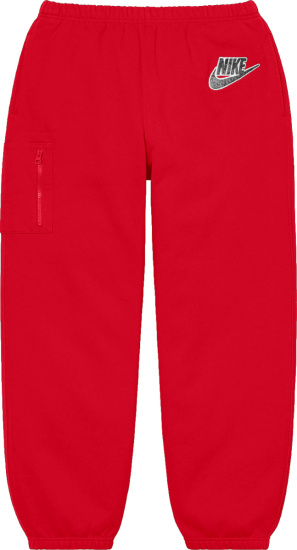 Nike X Supreme Red Cargo Sweatpants