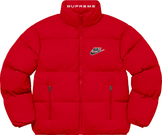 Nike X Supreme Red Puffer Jacket
