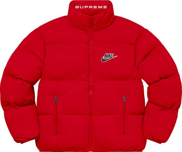 Nike X Supreme Red Puffer Jacket